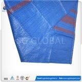 Venda por grosso de 50kg Tecido PP azul sacos de grãos