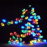 多色刷りクラスタライト点滅のクリスマスツリーストリングライト