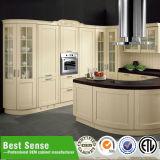 Gabinete de cozinha de acabamento de laca para piano branco para projeto / uso doméstico
