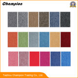 Revestimento de PVC Multi-Color simples tapete piso em mosaico para Office; PP Comercial Loop Tufados Veludos apoio de PVC telhas de tapetes tapete inicial no interior do escritório
