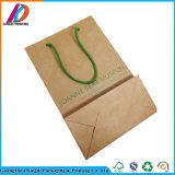 Sacchetto all'ingrosso di vendita caldo della carta kraft del Brown Con stampa verde