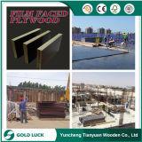 madera contrachapada del encofrado de la construcción de marina de la melamina 4X8 WBP de 18m m