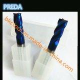 Tungstênio 4 ferramentas de potência HRC60 revestidas azuis das ferramentas das flautas