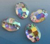 Оптовый овал шьет на Rhinestone камней кристаллический для украшения платьев