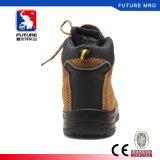 Carregadores de trabalho antiderrapagem elevados da absorção de choque das sapatas de segurança do tornozelo