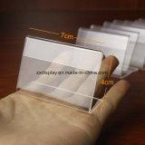 Support d'étiquette acrylique d'étiquette de carte nommée des prix de support d'étalage de signe 7cm x 4cm