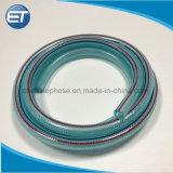 Plastique PVC renforcé de fibre hydraulique haute pression de tuyau flexible tressé
