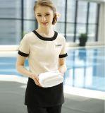 Hotel de alta qualidade personalizado garçonete uniforme uniforme protetor de casa