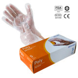 Перчатки устранимого HDPE пластичные для еды
