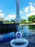 Pipe blanche en verre d'eau de Pyrex de Borosilicate de hauteur du jade 14inch avec le prix de gros