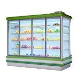 Dispositivo di raffreddamento della bevanda del portello scorrevole di alta qualità/frigorifero vetrina del supermercato