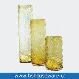 Vaso di vetro decorativo domestico colorato