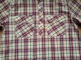 100%Cotton der Männer Garn gefärbte Plaid-lange Hülsen-Standplatz-Muffe gesponnene Hemden