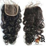 Diritto 4 x 4 parti indiane seriche della parte superiore dei capelli di Remy