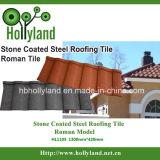 Azulejo de material para techos revestido del metal de una piedra más barata (azulejo romano)
