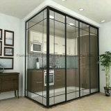 Новый популярный итальянский простой закаленного стекла алюминиевые раздвижные двери салона