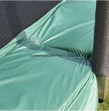 [10فت] مستديرة اللون الأخضر 4 ساق [ترمبولين] مع أمان إحاطة