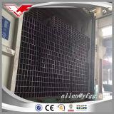 Tubo negro usado construcción del acero de Shs y del lado derecho