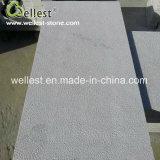Materiale da costruzione martellato Bush bianco naturale delle mattonelle del rivestimento murale delle mattonelle del pavimento non tappezzato della quarzite della quarzite