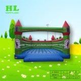子供のための青および黄色の動物園のサーカスの主題の膨脹可能な跳躍の警備員