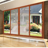 Porta de madeira de alumínio de vidro de estilo americano