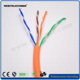 U/UTPの鋼線サポート非シールドネットワークケーブル猫5eのツイストペアのインストールケーブル