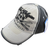 Lavado pesado gorra de béisbol con logotipo grande Gjwd1756