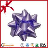 2.5 '' Serien-zweiseitigen Geschenk-Stern-Farbband-Bogen für Dekoration einwickelnd
