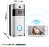 Intercomunicador de 2 vias de segurança doméstica WiFi 720p telefone da porta de vídeo da Bateria