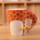 Creative Animal Mug en céramique avec poignée Giraffe