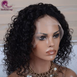 100% Cabello Rizado peluca de encaje completo