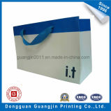 Papier Kraft Simple design Blanchi Carrier Bag for Shopping