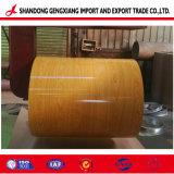 PPGI PPGL du grain du bois de la bobine d'acier en aluminium à revêtement de couleur