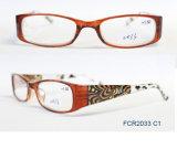 Última Moda óculos de leitura de senhoras de plástico com bolsa a FCR2033