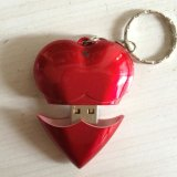Красный в форме сердечка флэш-накопитель USB 4 ГБ