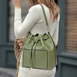 Handbag Fashion PU Leather女性バケツ袋
