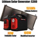 Voyant d'alimentation du générateur solaire portable Kit pour Accueil Camping Voyager