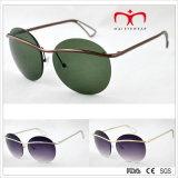 Óculos de sol redondos do frame do estilo o mais atrasado da forma (MI215)