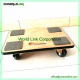 Venda por grosso de madeira móvel sacola de plataforma de reboque com borracha