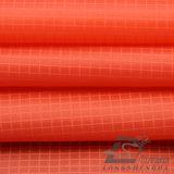 20d 250t Water & Wind-Resistant Sportswear Outdoor Down Jacket Double-Striped tejido Jacquard Plaid 100% tejido de filamentos de poliéster (L011)