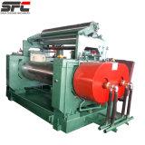 Machine ouverte de moulin de mélange en caoutchouc de deux roulis