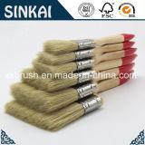 As melhores escovas de pintura com ponta vermelha envernizada do punho de madeira