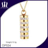 De Gouden Cilindrische Tegenhanger van uitstekende kwaliteit van het Kristal van Vrouwen