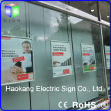 El bastidor de encaje de aluminio curvo Caja de luz LED panel de visualización de publicidad
