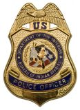 Hecho a la medida Insignia de policía chapado en oro