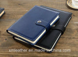 カスタムPUの革ハードカバー日記の本の事務用品の議題