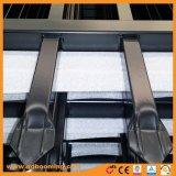 溶接されたやりの上の防御フェンスを通した装飾的なアルミニウム