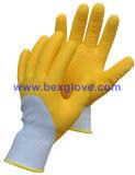 Перчатка желтого сада работая, нейлон 13 датчиков