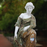 Statua di marmo femminile intagliata mano