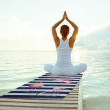 Sneldrogende Sporten die het Kamperen van het Bad de Handdoek van de Yoga Microfiber zwemmen